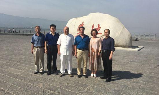 联合国华人友好协会秘书长查尔斯应邀到山西省运城市盐湖区调研